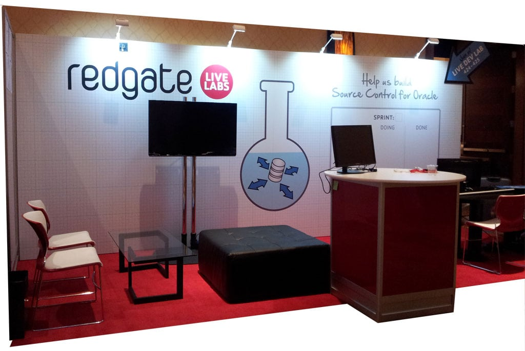 Layout of the Live Labs Stand at Kscope