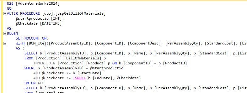 SQL formatting can be ugly ...