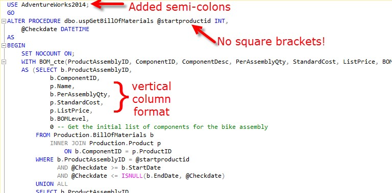 Or SQL formatting can make SQL easy to work with.