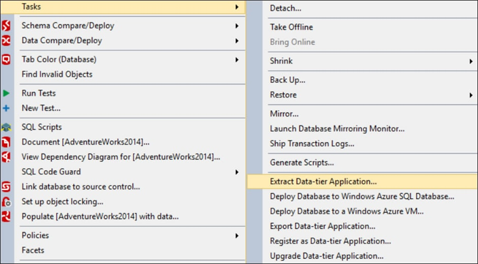 Comparing DacPacs using SQL Compare 2