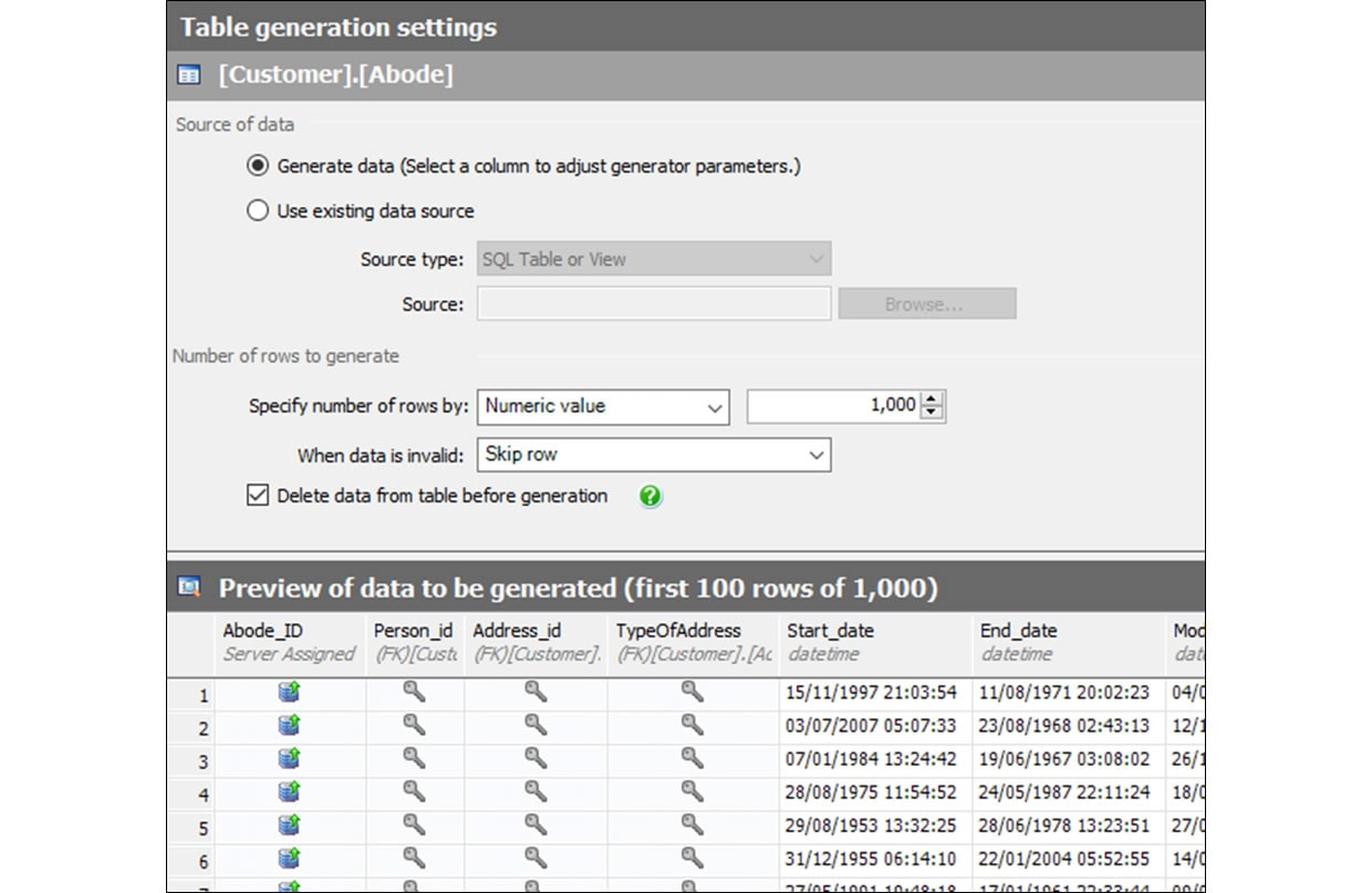 Producing Realistic Test Data With SQL Data Generator - Us address and zip code generator