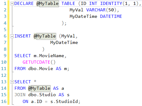 SQL Prompt renaming objects 3