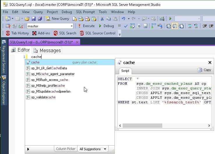 SQL Prompt snippet 4