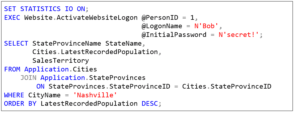 SQL Prompt formatting styles
