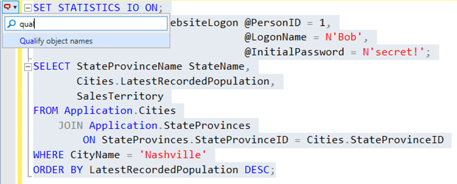 SQL Prompt formatting styles 6