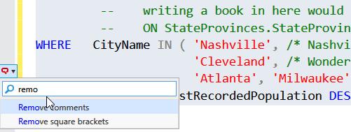 SQL formatting 2