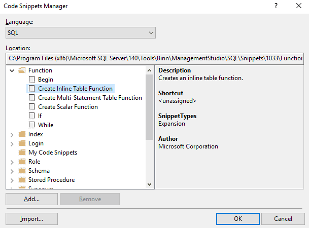 Templates and Snippets in SSMS and SQL Prompt - Redgate Software