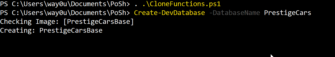 replacing a database with its clone using Powershell and SQL Clone