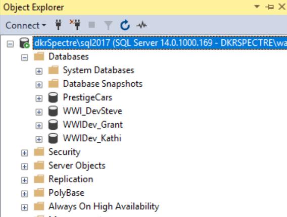 A normal SQL Server database