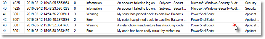 Checking on Failed Server Logins, Server Errors, and