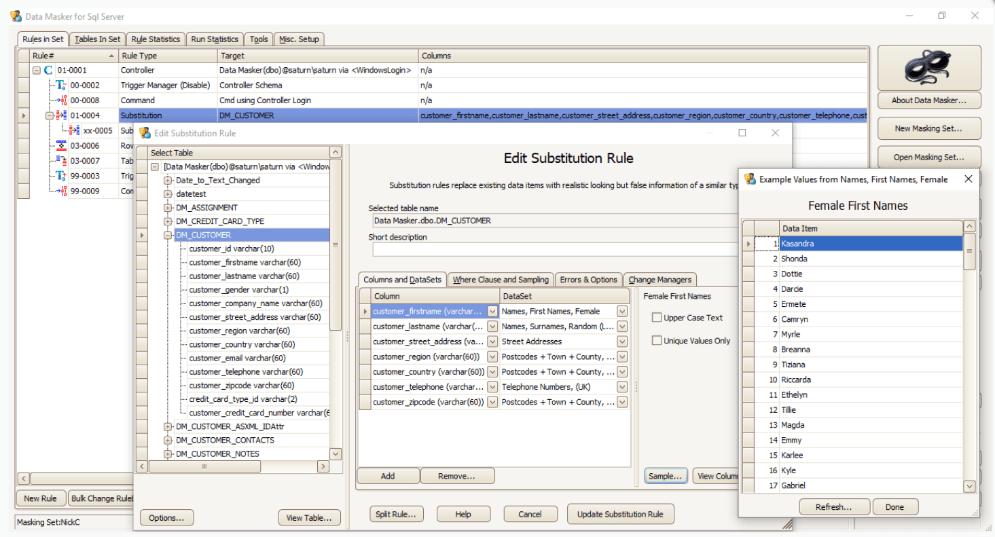 Data masker for sql server